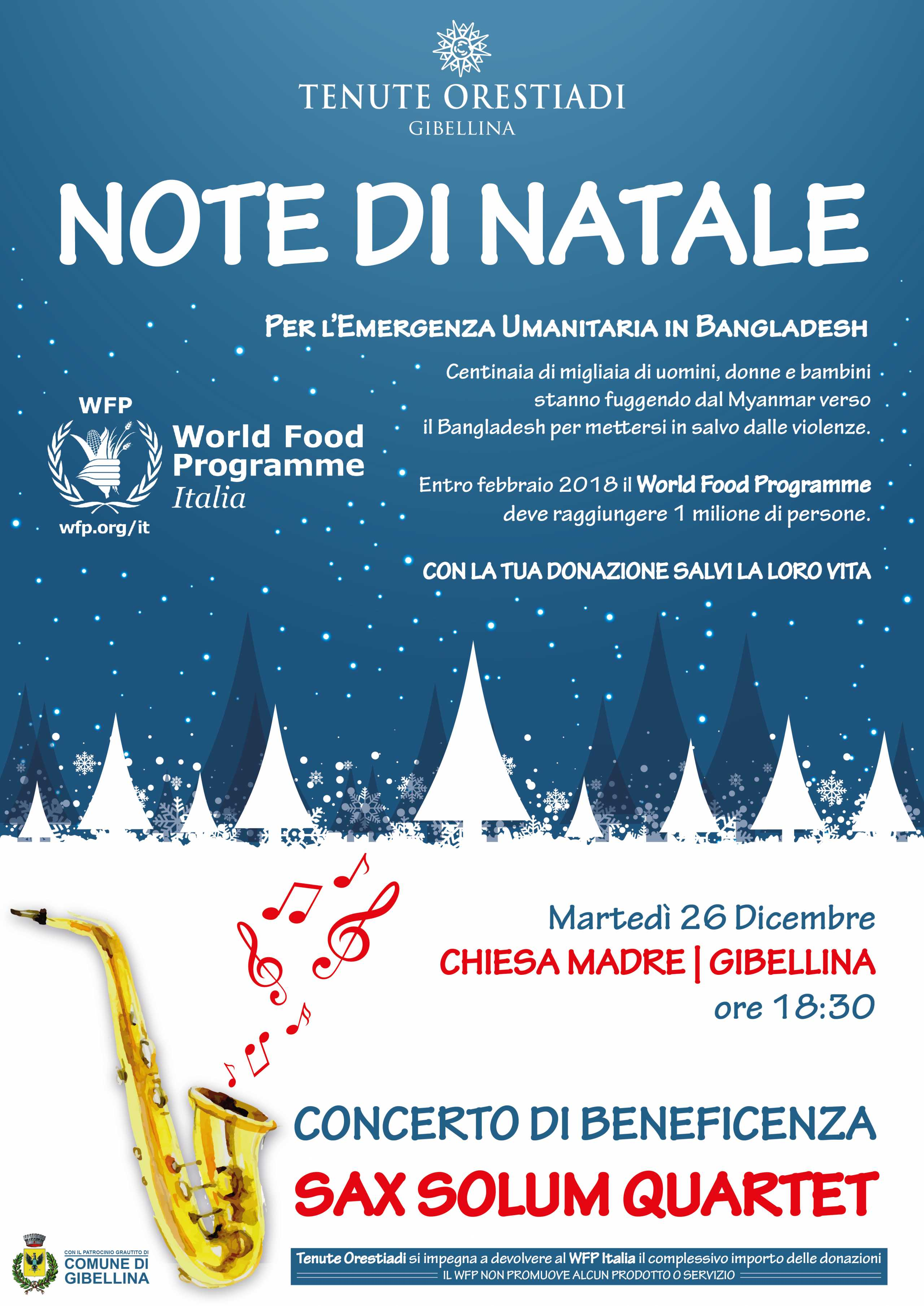 Note Di Natale: Raccolta Fondi Per Il World Food Programme